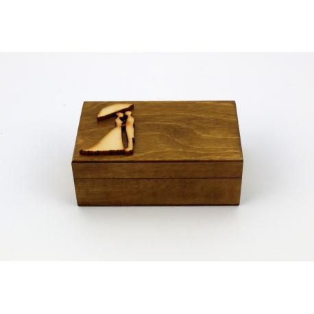Pudełko na obrączki + mech