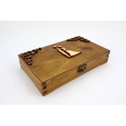 Pudełko, szkatułka na pieniądze.